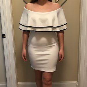 NWT  White ruffle dress